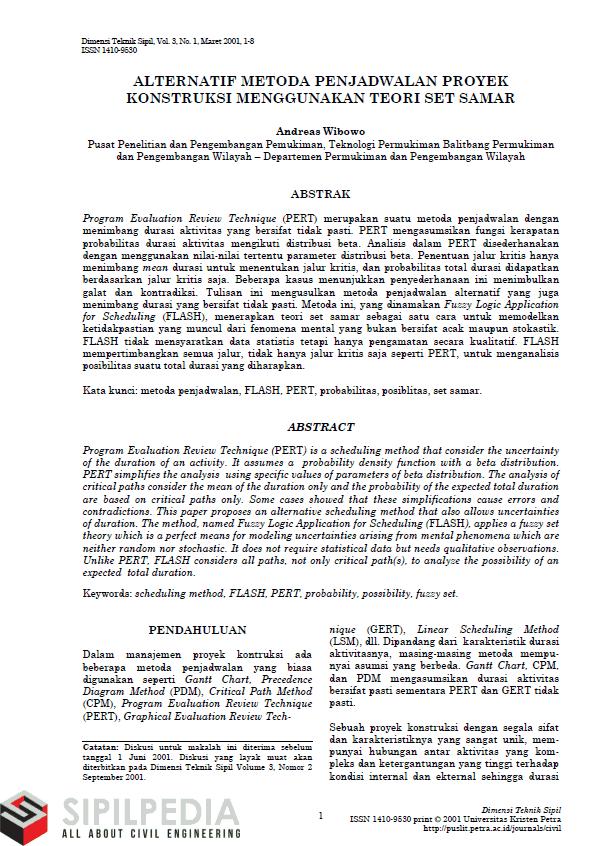 Jurnal manajemen konstruksi teknik sipil pdf