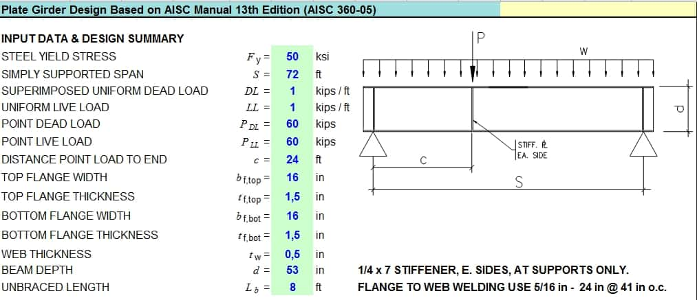 Plate Girder Design Based On Aisc Manual 13th Edition
