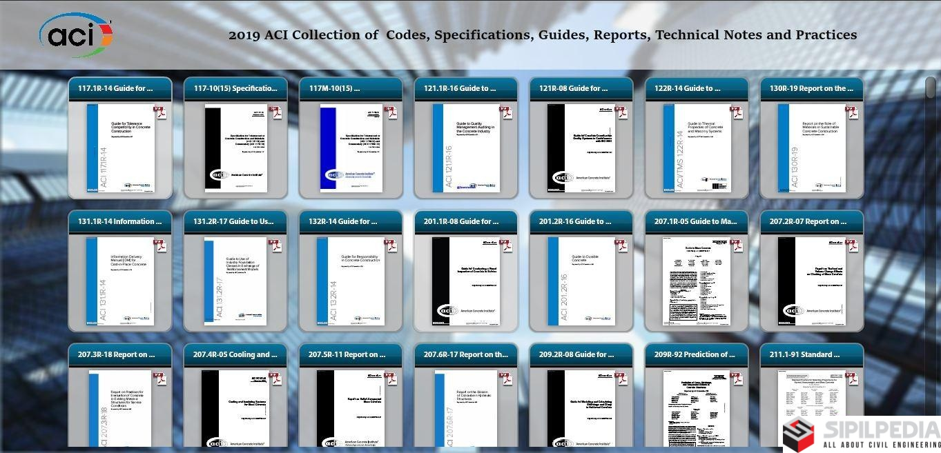2019 ACI Collection of Codes, Specifications, Guides, Reports
